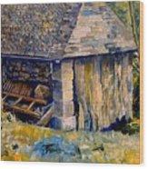 Ancient Mill Wood Print