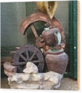 Model Of Ancient Water Mill In Greece  Wood Print