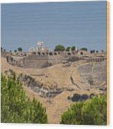 Ancient Pergamon Acropolis Wood Print