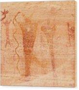 Ancient Rock Art 2 Wood Print