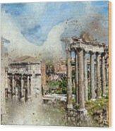 Ancient Rome II Wood Print
