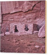 Ancient Ruins Mystery Valley Colorado Plateau Arizona 04 Wood Print