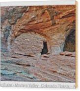 Ancient Ruins Mystery Valley Colorado Plateau Arizona 05 Text Wood Print