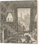 Ancient School Built According To The Egyptian And Greek Manners Wood Print