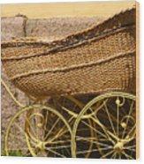 Ancient Swedish Baby Carriage Wood Print