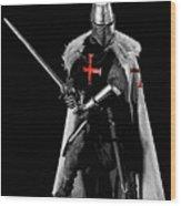 Ancient Templar Knight - 05 Wood Print