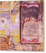 Ancient Wall 7 By Michael Fitzpatrick Wood Print