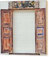 Ancient Window. Mermaid. Wood Print