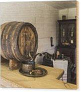 Ancient Wine Shop Wood Print