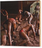 ancient wrestlers of India Wood Print