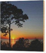 Anclote Gulf Sunset Wood Print