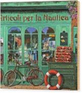 Ancora Una Bicicletta Rossa Wood Print
