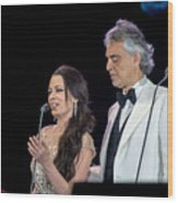 Andrea Bocelli In Concert  Wood Print