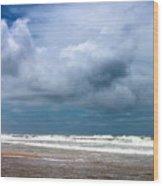 And The Sea Foam Rolls In Wood Print