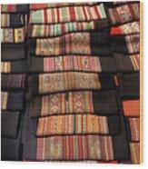 Andean Textile Market Wood Print
