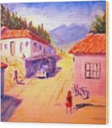 Andean Village Wood Print