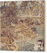 Andersen: Little Mermaid Wood Print