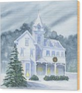 Anderson Mansion Christmas Wood Print