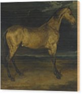 Andre Theodore Gericault   A Horse Frightened By Lightning Wood Print