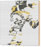 Andrew Mccutchen Pittsburgh Pirates Pixel Art 1 Wood Print