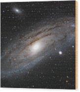 Andromeda Galaxy Lightened Wood Print