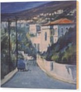 Andros Wood Print by George Siaba