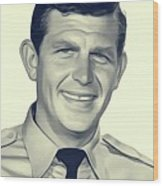 Andy Griffith, Vintage Actor Wood Print