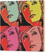 Andy Loves Greta Wood Print
