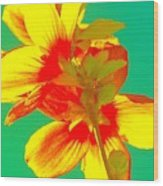 Andy Warhol Inspired Yellow Flower Wood Print