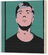 Andy Warhol Self Portrait 1964 On Green - High Quality - Stamp Edition 2012 Wood Print