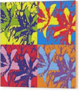 Andy's Lillies Wood Print