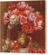 Anemones 1909 Wood Print