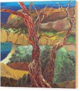 Anew Wood Print