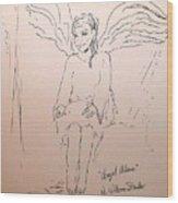 Angel Above Wood Print
