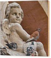 Angel And Birds  Wood Print