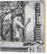 Angel And Still Life Wood Print