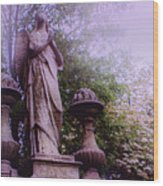 Angel At Old Swedes Wood Print