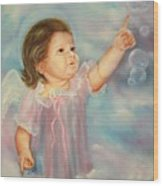 Angel Baby Wood Print by Joni McPherson