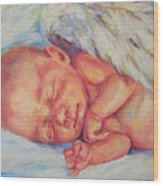 Angel Baby Wood Print
