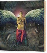 Angel Body Art Wood Print