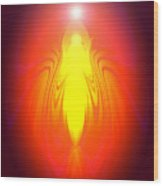 Angel-energy-healing Wood Print by Ramon Labusch