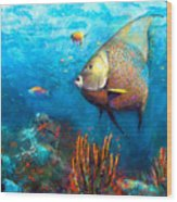 Angel Fish Wood Print