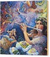 Angel Flute Wood Print