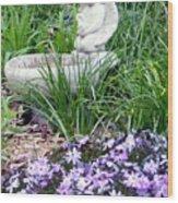 Angel Garden Wood Print