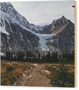 Angel Glacier Wood Print