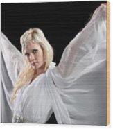 Angel Goddess Wood Print