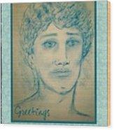 Angel Greetings Wood Print