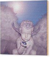 Angel-heart Wood Print by Ramon Labusch