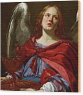 Angel Holding The Vessel And Towel For Washing The Hands Of Pontius Pilate Wood Print