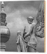Angel In Berlin Wood Print